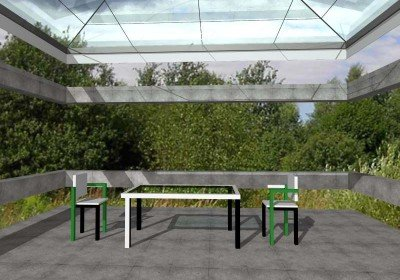 doric salon green  table forest