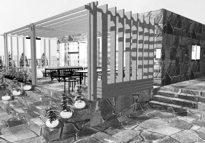 Architectural study of residence in Sounio Attica