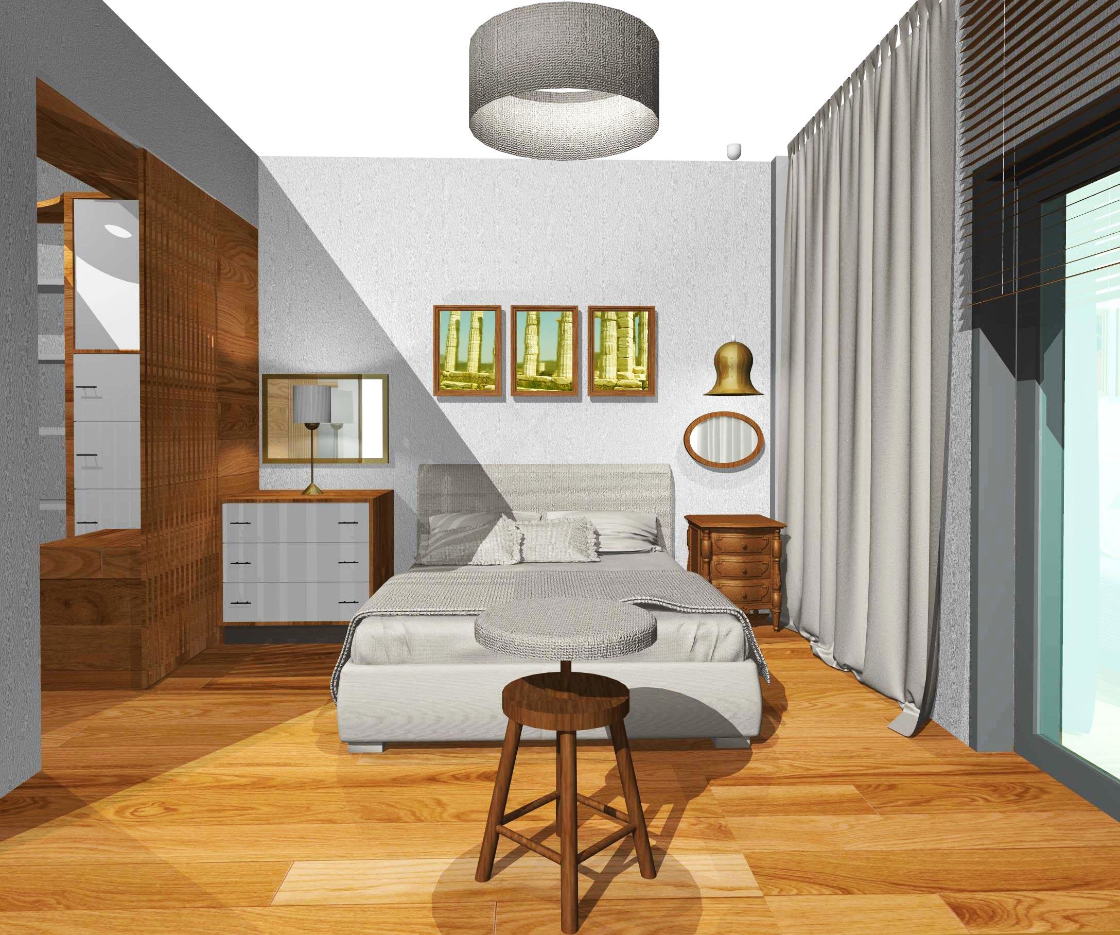 Bedroom & Walking Closet In Voula Athens
