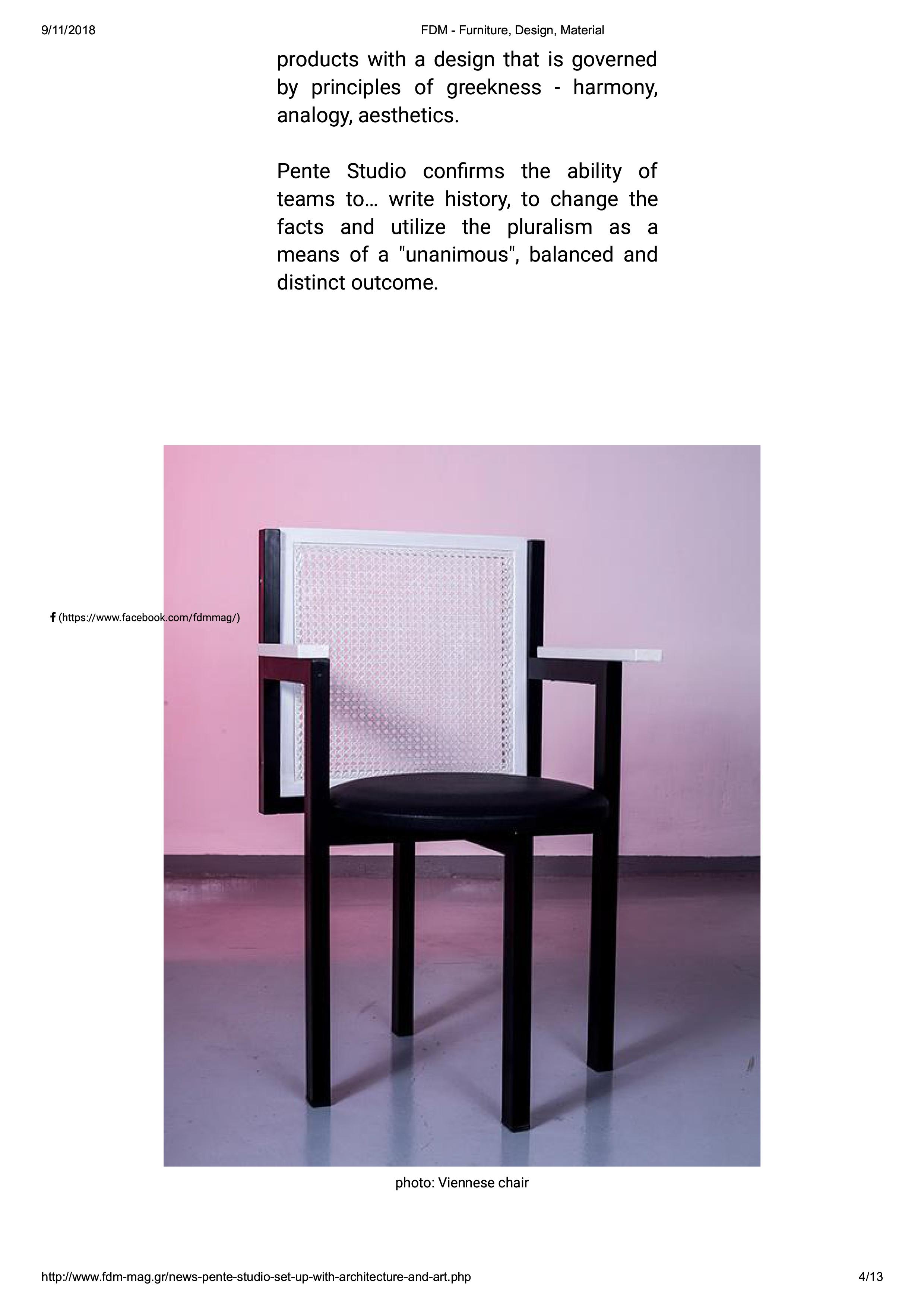 FDM - Furniture, Design, Material